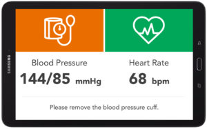Easier to read health monitor results screen